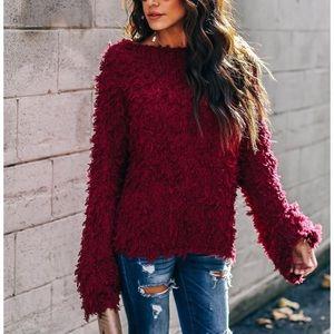 Passionate Fringe knit sweater
